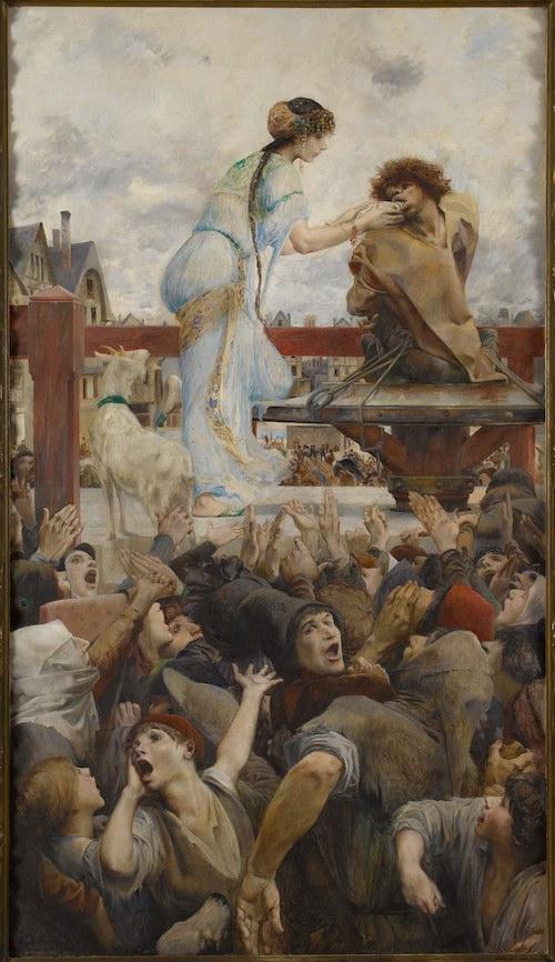 """""""Une larme pour une goutte d'eau"""" by Luc-Olivier Merson, 1903."""