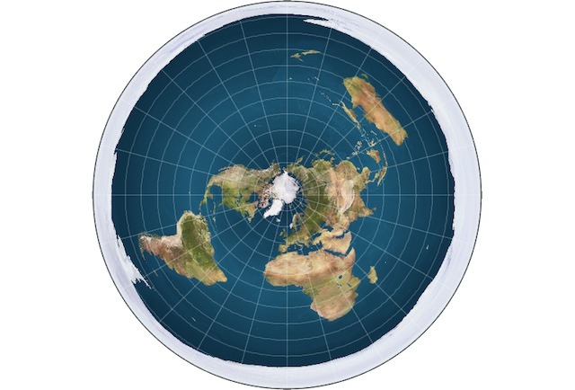 Flat Earth ice ring
