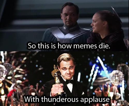 Leonardo DiCaprio Oscar win Inception meme