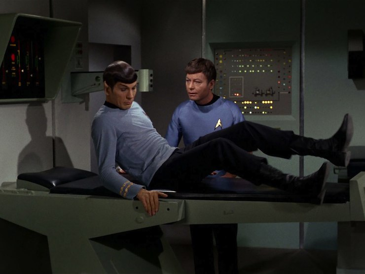 Image result for spock and bones the immunity syndrome