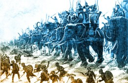 Henri-Paul Motte Carthiginian war elephants color