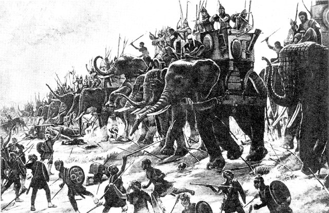 Henri-Paul Motte Carthaginian war elephants