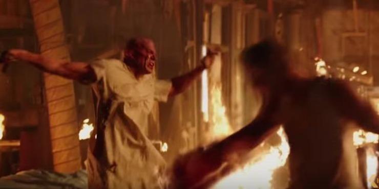 Deadpool fight scene