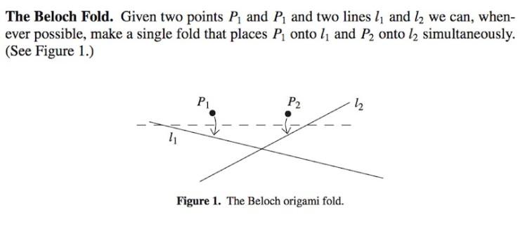 Ken Liu paper folding origami mathematics Beloch