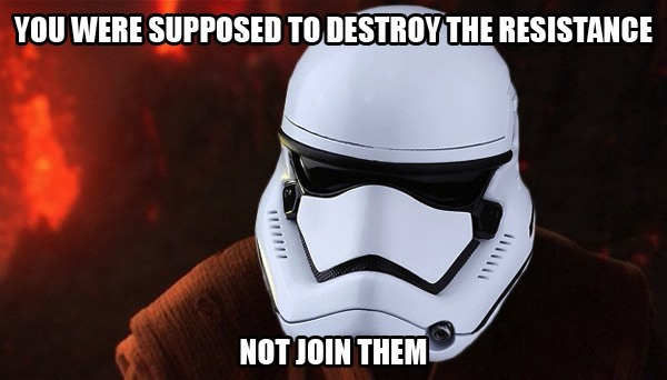 The Force Awakens, TR-8R meme