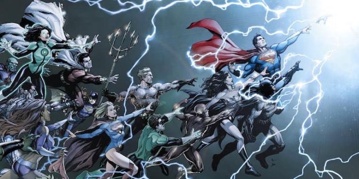 DC Rebirth cover Watchmen Dr. Manhattan