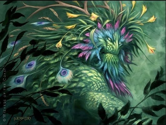 Todd Lockwood Magic: The Gathering Green Man card