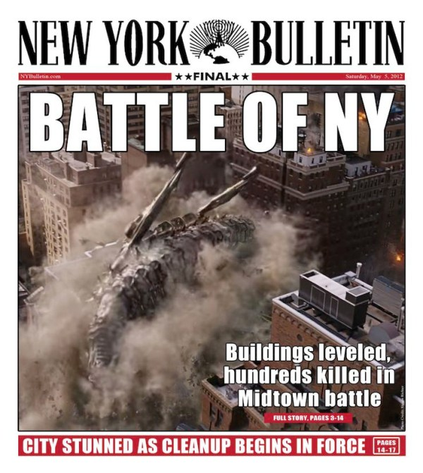 Battle of New York, New York Bulletin headline