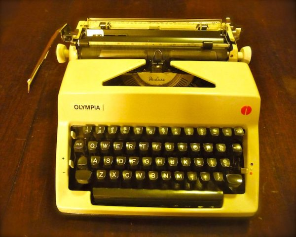 "Olympia SM9, made in West Germany (1971)--the newest in the ""fleet."""