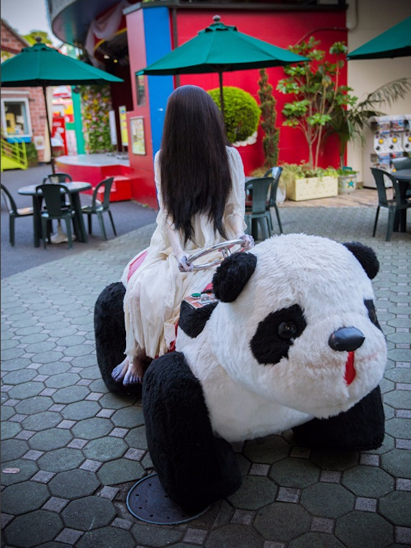 Sadako on a Panda