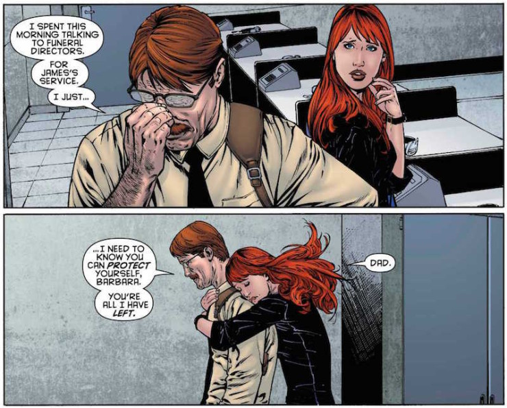 best dads fathers in SFF Batgirl Jim Gordon Commissioner Gordon Father's Day