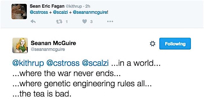 Seanan McGuire on Twitter