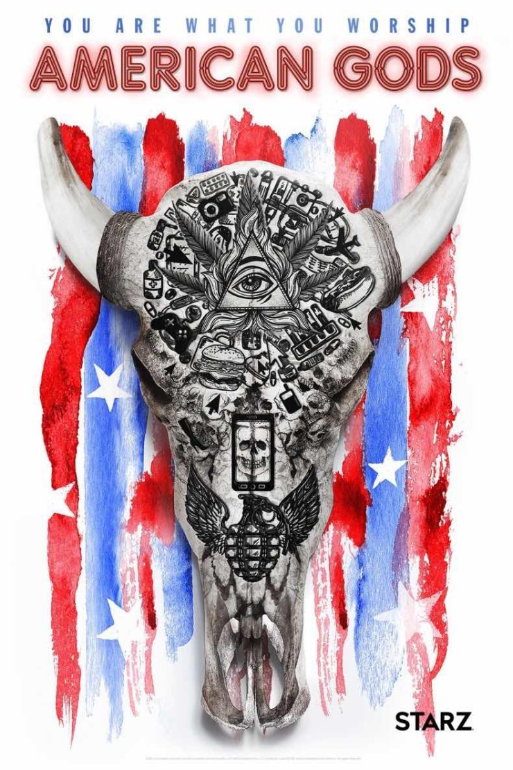 American Gods San Diego Comic-Con 2016 SDCC poster Starz you are what you worship