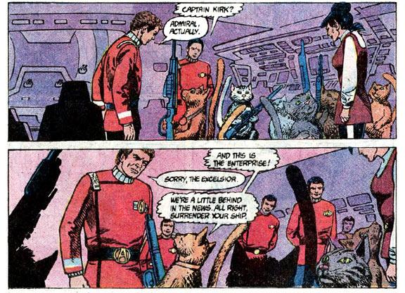 Star Trek comics cats