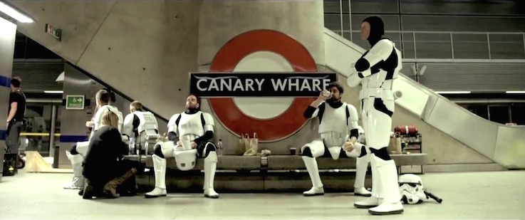 Stormtroopers London Tube