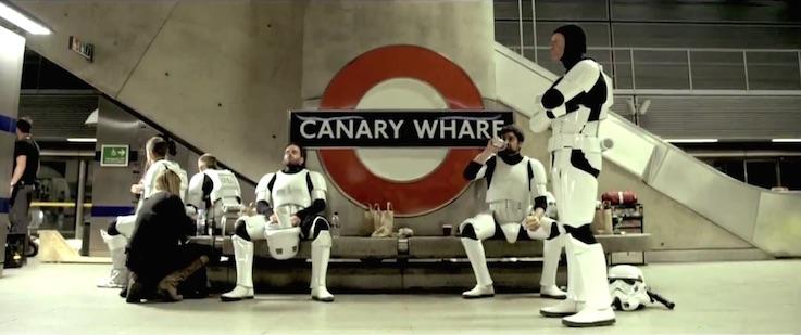 Stormtroopers London Tube