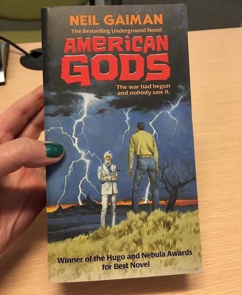 American Gods retro cover McGinnis