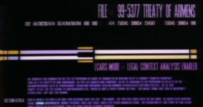 Treaty of Armens, Star Trek, TNG