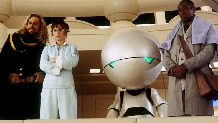 Marvin the paranoid android, Hitchhiker's Guide to the Galaxy