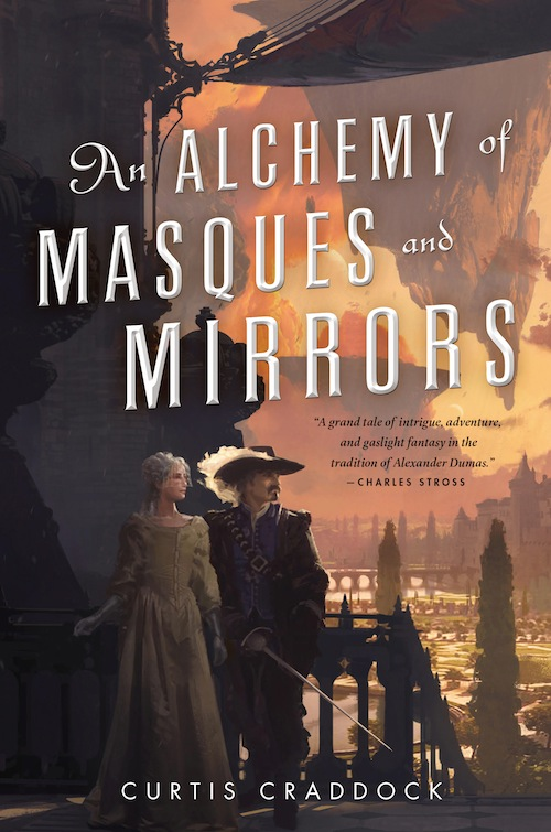 An Alchemy of Masques and Mirrors by Curtis Craddock, cover by Thom Tenery