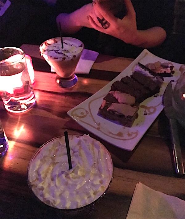 Time Burton drinks and brownies