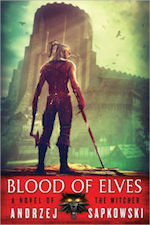 Cover image for the Polish fantasy novel Blood of Elves