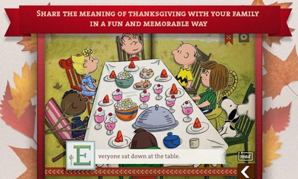 Google Play Interactive Charlie Brown Thanksgiving