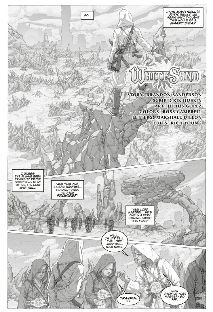 White Sand Brandon Sanderson graphic novel