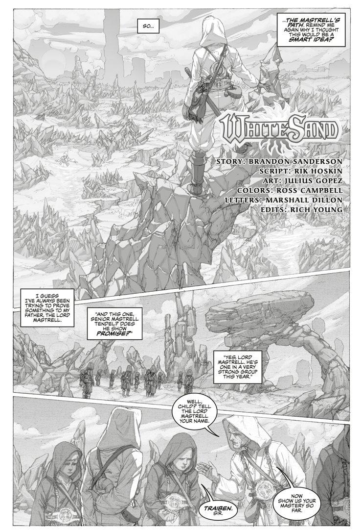 White Sand Brandon Sanderson graphic novel