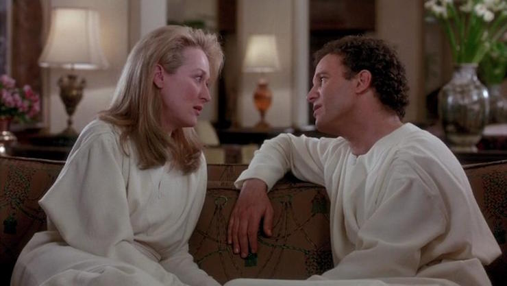 Meryl Streep and Albert Brooks in Defending Your Life