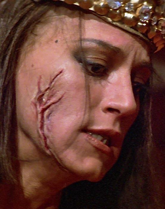 Red Sonja Queen Gedren facial scars
