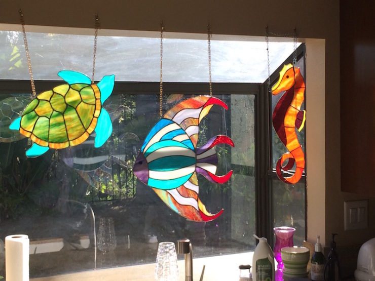 Neal Shusterman stained glass window box