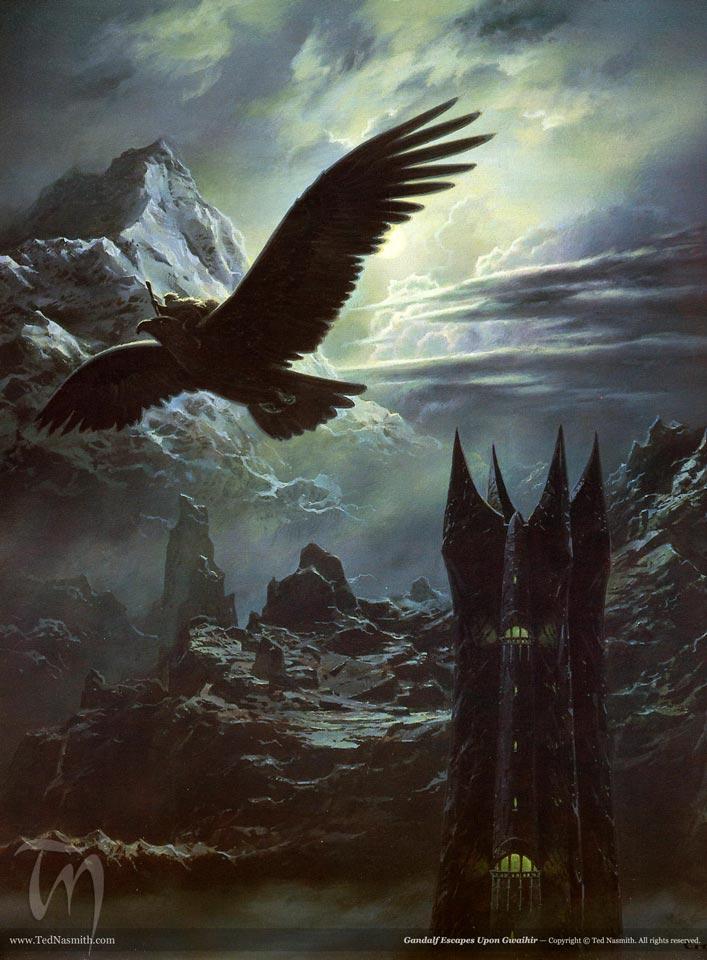 Gandalf Escapes Upon Gwaihir