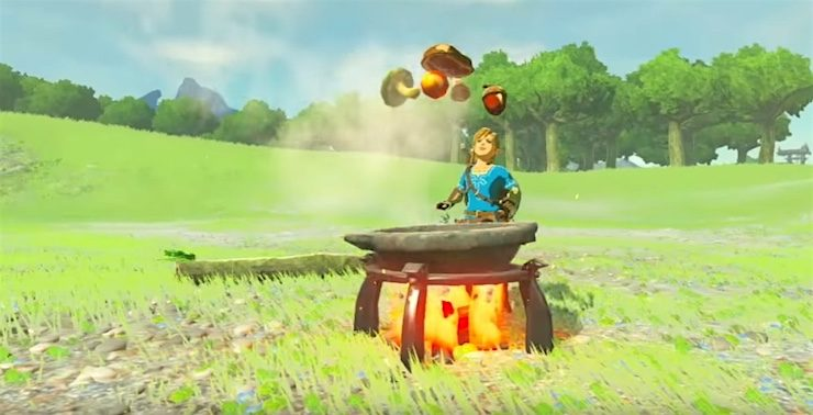 Zelda Breath of the Wild cooking