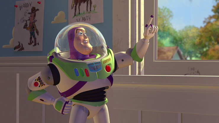 Buzz Lightyear (voiced by Tim Allen) in Pixar's Toy Story