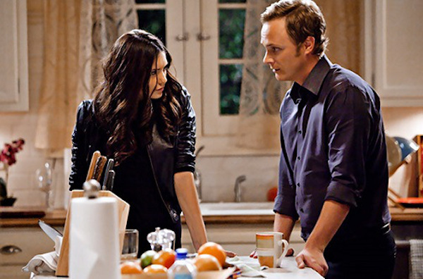 """""""Founder's Day"""" - Nina Dobrev as Katherine, David Anders as Johnathan Gilbert in THE VAMPIRE DIARIES on The CW. Photo: Bob Mahoney/The CW ©2010 The CW Network, LLC. All Rights Reserved."""