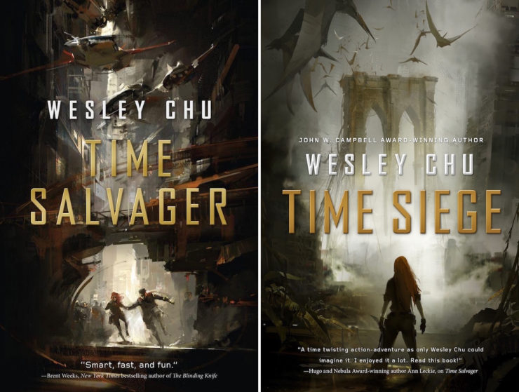 Richard Anderson book covers Wesley Chu Time Salvager Time Siege