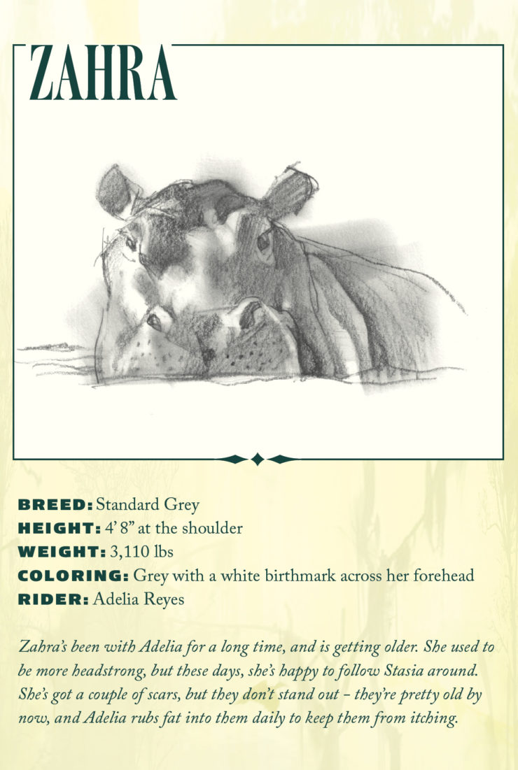 hippos Sarah Gailey River of Teeth