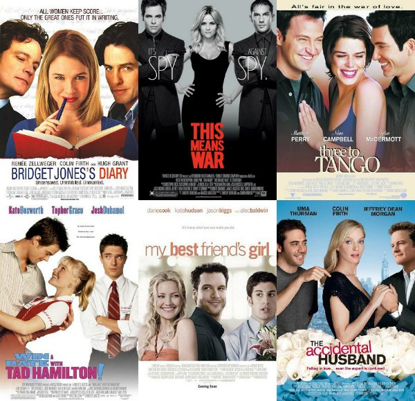 Two guys, one woman, rom com