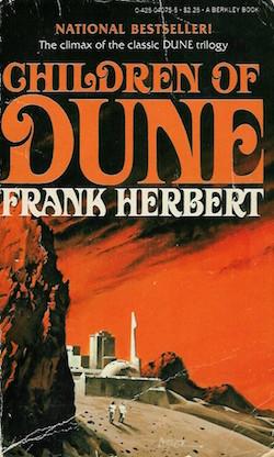 Children of Dune cover, Frank Herbert
