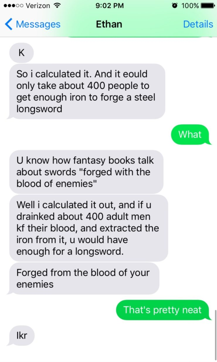 """How to Actually Make a Sword """"Forged From the Blood of Your"""