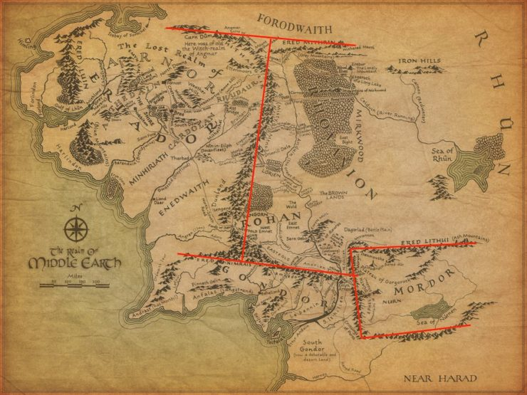 The 100 Map Of Earth.Tolkien S Map And The Messed Up Mountains Of Middle Earth Tor Com