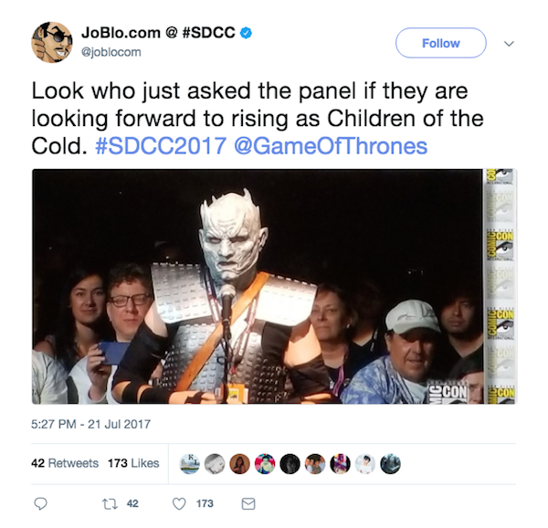 White Walker Q&A Game of Thrones panel SDCC 2017
