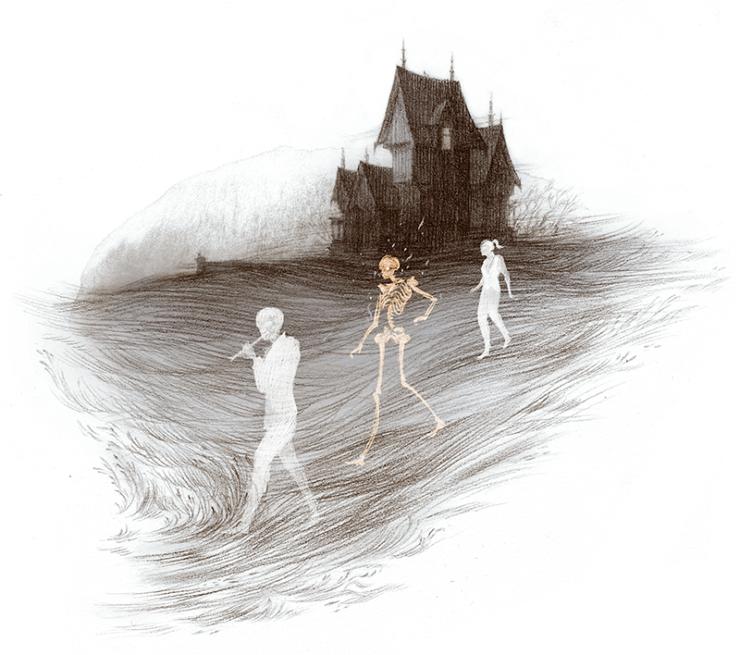 Rovina Cai Every Heart a Doorway illustrations house