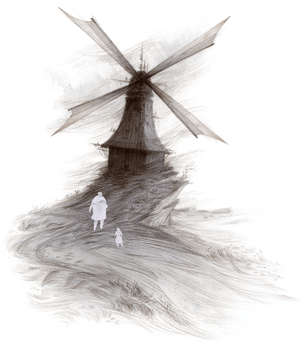 Rovina Cai Down Among the Sticks and Bones illustration windmill
