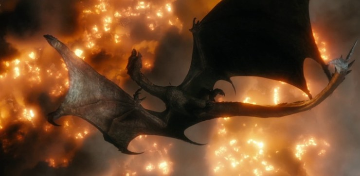 According to the historians and scholars the dragon Smaug is related to two dragons from Norse mythology the Dragon in Beowulf and Fáfnir Firstly I should explain the Dragon in Beowulf as it epic is the first written evidence about AngloSaxon literature which includes almost all Nordic countries