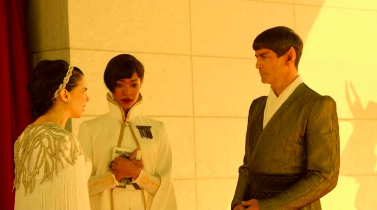 Star Trek: Discovery, Sarek, Amanda, and Michael