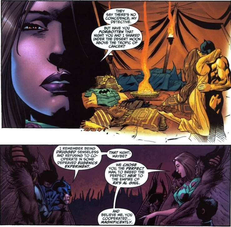 Talia al Ghul and Batman, rape