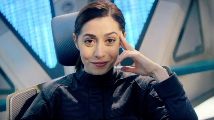 "Black Mirror ""USS Callister"" television review Star Trek homage tropes critique male nerd fantasies Cristin Milioti"