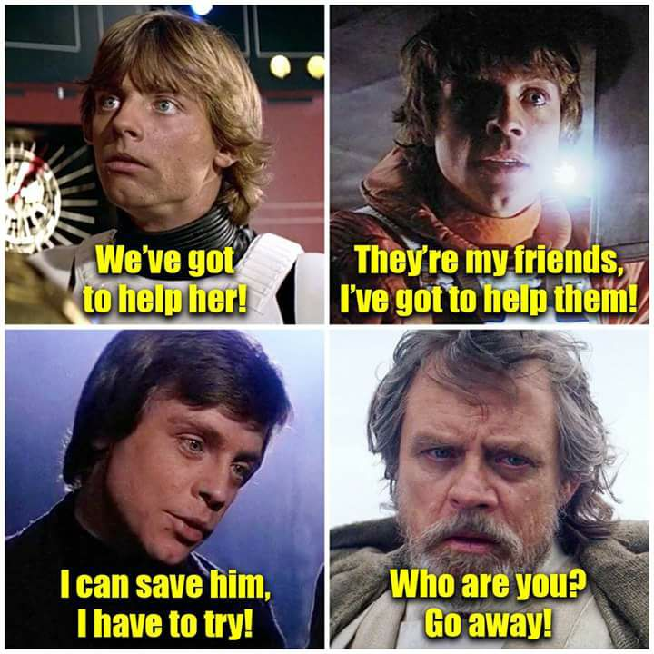 Luke Skywalker over the ages
